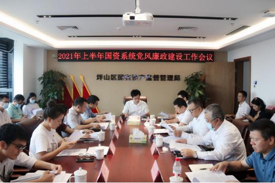 坪山区国资局党委召开国资系统2021年上半年党风廉政建设工作会议